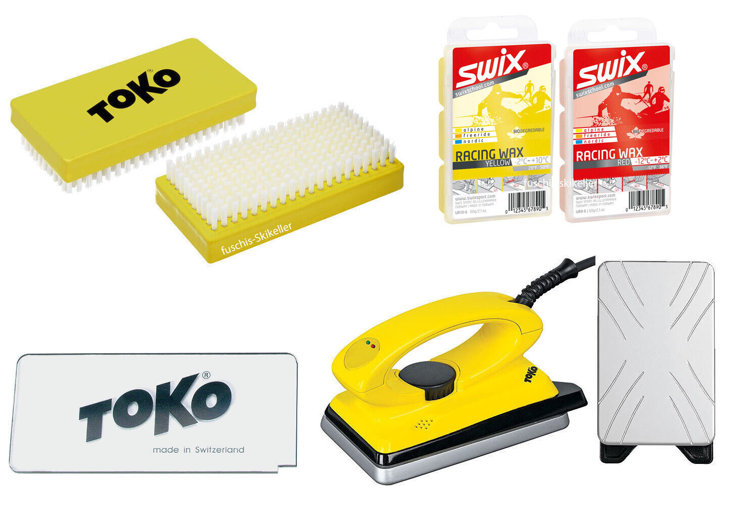 Toko Skiwax Set 5 Pieces with Iron Alpine - Nordic - Board