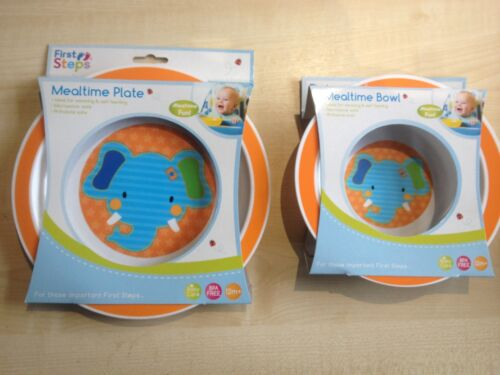 jungle pals first steps bowl /& plate set toddler baby feeding animal child UK,