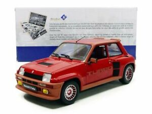1981 RENAULT 5 TURBO GRENADE RED 1:18 SCALE BY SOLIDO S1801302