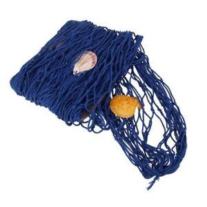 Rete-Da-Pesca-Decorativa-Blu-Conchiglie-Arredo-Mare-Casa-Vetrina-100x200cm-dfh