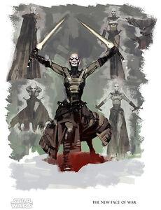 Star Wars Female Sith Warrior Asajj Ventress Clone Wars Concept Art Giclee Paper Ebay