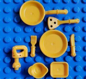 Lego Friends Minifigure Kitchen Accessories Lot Chef Baker Mixer Spatula Orange Ebay