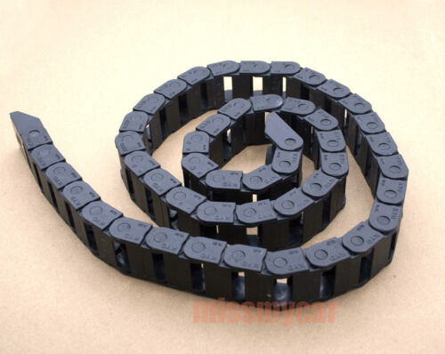 """included end connector 1 Cable drag chain wire carrier 7*7mm L:1000mm 40/"""""""