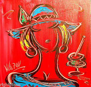 Blushing Girl ORIGINAL OIL Painting Stretched signed by