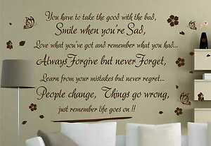 Life-Goes-On-wall-art-quote-wall-sticker-wall-decals-wall-decor