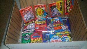 Details About 1000 Vintage 1987 1991 Unopened Baseball Card Packs Lot 100 Card Bonus