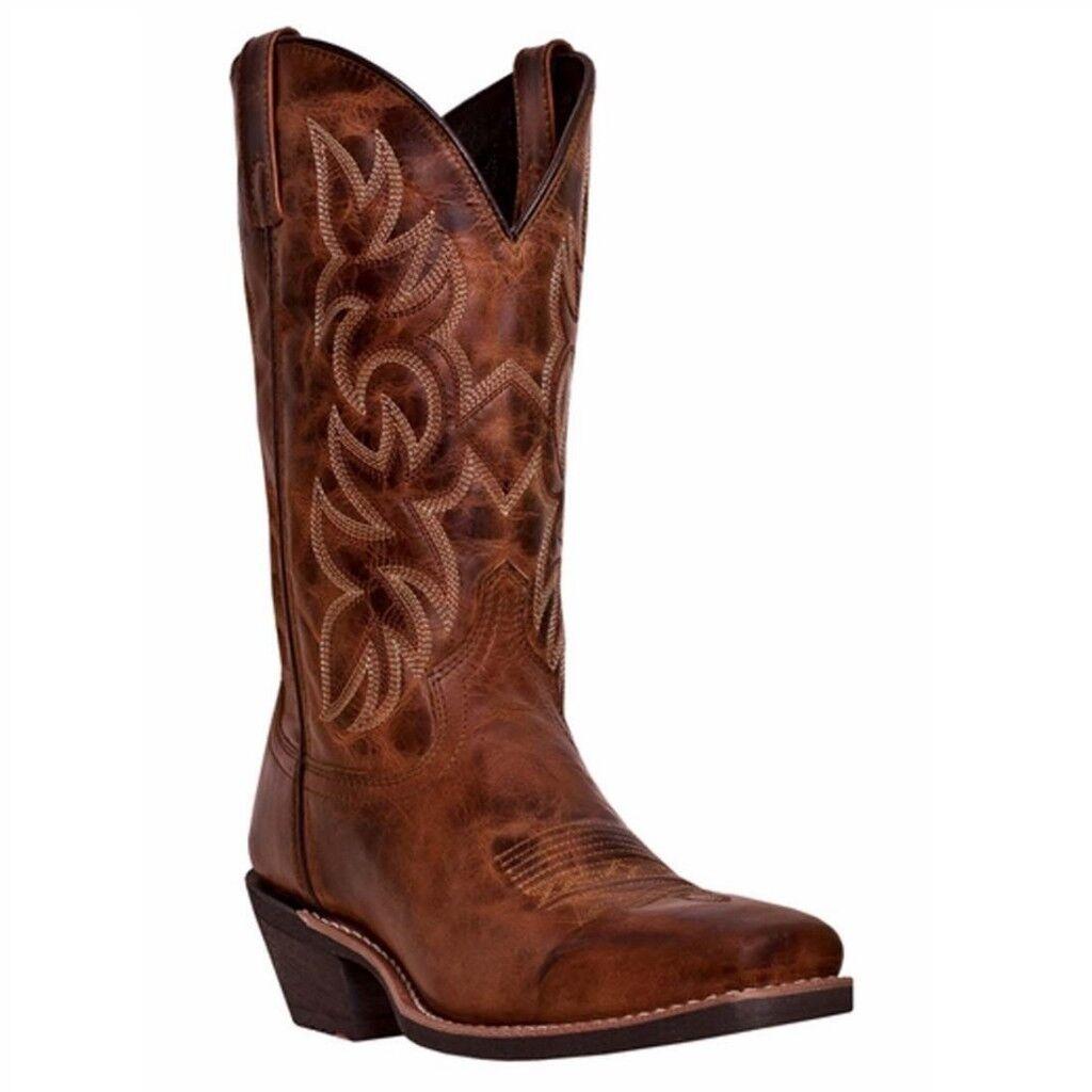 Larojoo para hombre Breakout envejecido marrón botas de vaquero 68354 Nuevo En Caja