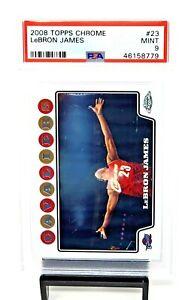 2008-Topps-Chrome-MVP-Lakers-LEBRON-JAMES-Chalk-Toss-Basketball-Card-PSA-9-MINT