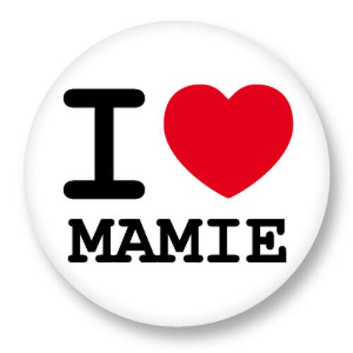 Porte clé Keychain Ø45mm I Heart Love J/'aime J/'adore Mamie