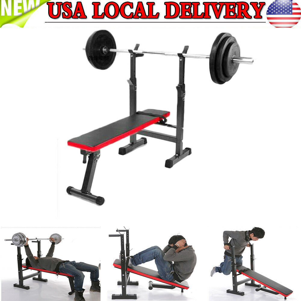 Adjustable Weight Bench Incline Decline Home Gym Exercise Fitness Training USA