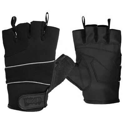 Summer Fingerless Motorcycle Reflective Gloves Breathable Night Riding Bicycle