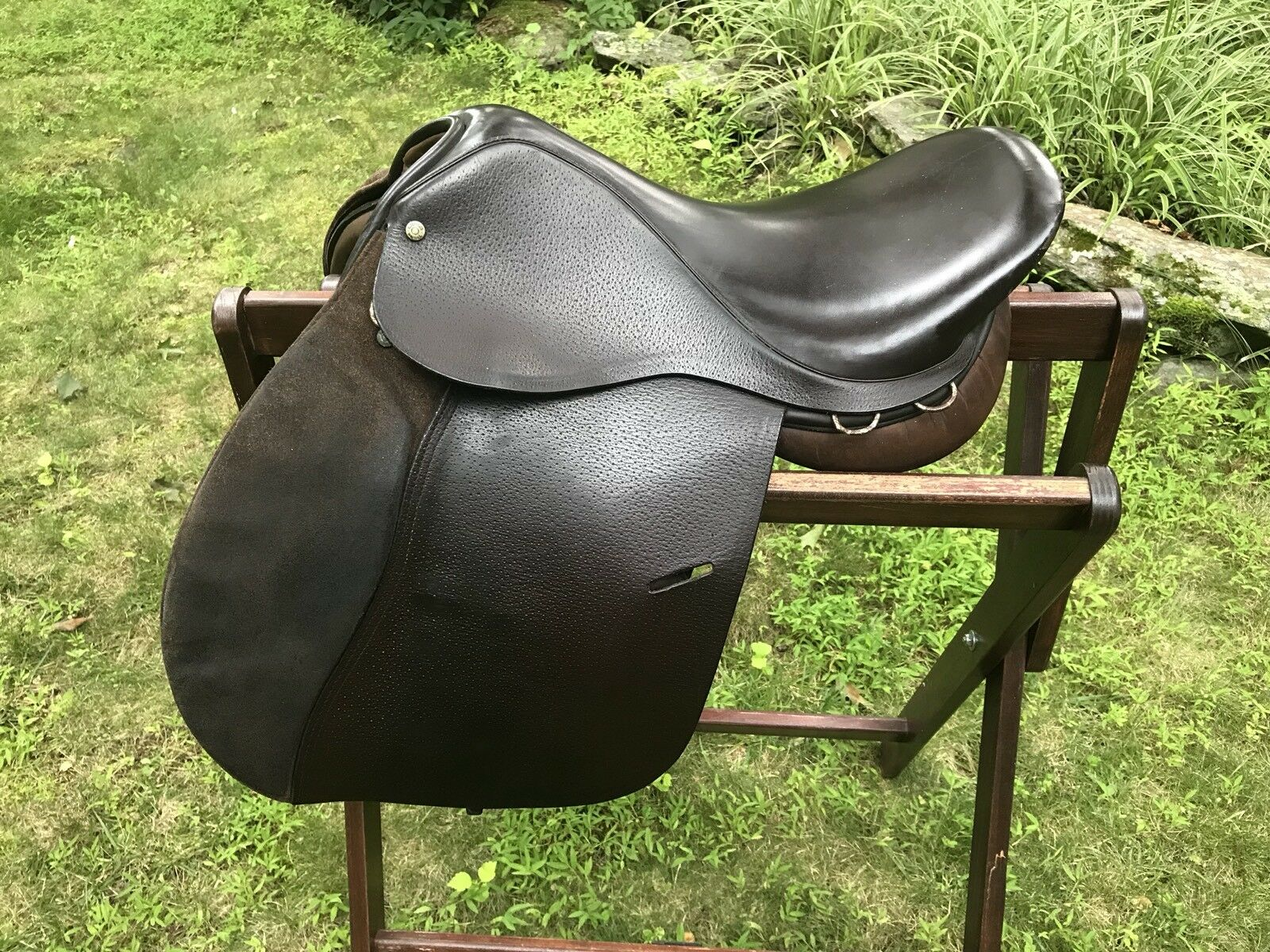 16   16.5 Jeffries Saddle, Med Tree, Long Flap (5'5 to 5'8), Made In England