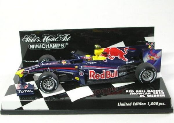 rouge Bull racing No. 6 M. webber formule 1 showcar 2010