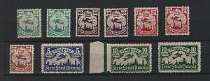1921-Danzig-aus-66-71-postfrisch-ungebraucht-Einzelmarken-zur-Auswahl