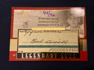 2003-SP-Legendary-Cuts-Earl-Averill-On-Card-SP-Cut-Auto-94-96