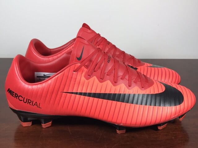 no sale tax huge discount online store Men's Nike Mercurial Vapor XI ACC FG Soccer Cleats Red/Black 831958-617  Size 13
