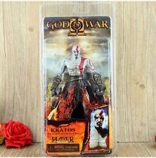 "7""  God of War 2 Kratos Flaming Blades of Athena PVC Action Figure FIGURINES"