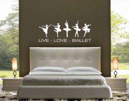 """Wall Art LOVE Car Sticker Great /""""LIVE BALLET/"""" Vinyl Sticker"""