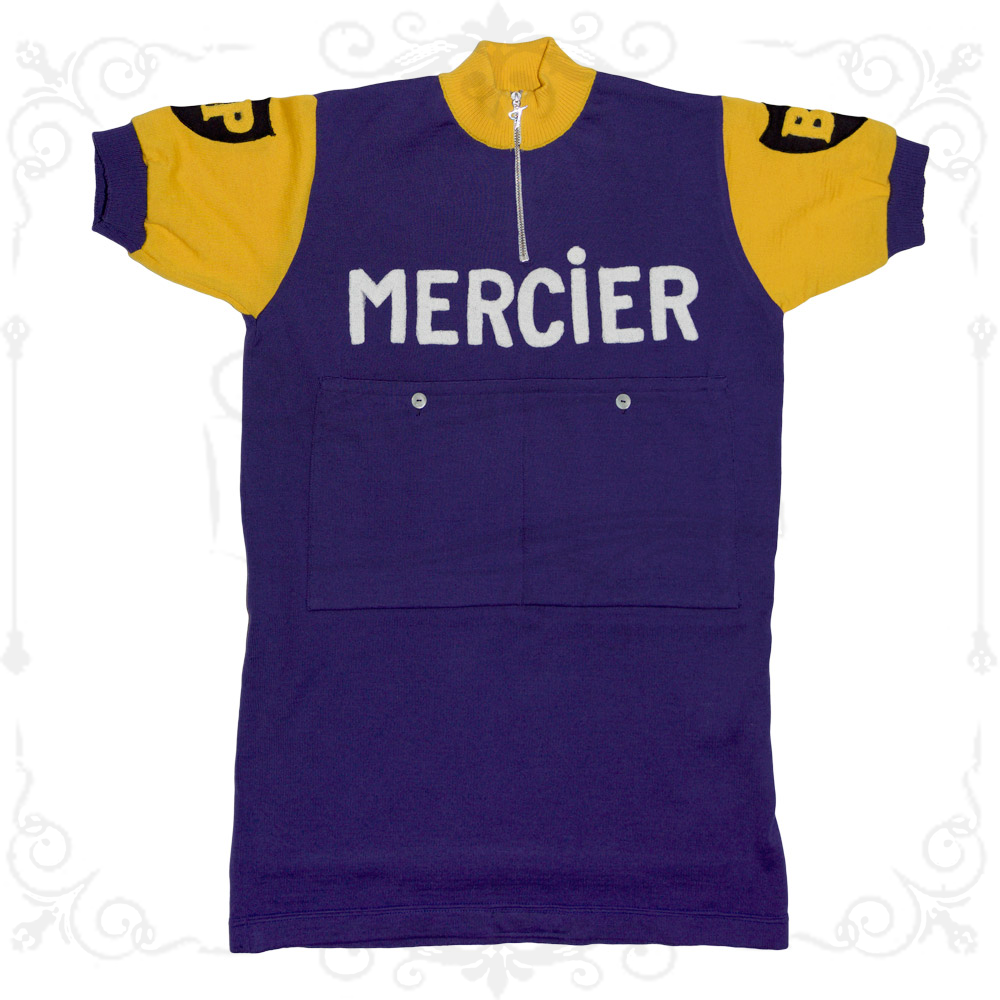 MAGLIA MERCIER Ciclismo Vintage Cycle Bike Made in  Poulidor