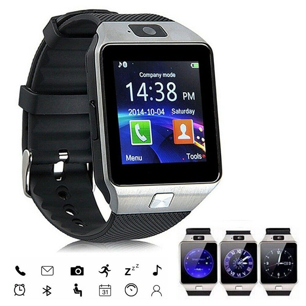 Bluetooth SmartWatch Sport Wristwatch Camera Pedometer for Android Samsung S9 S8 Cell Phones & Accessories