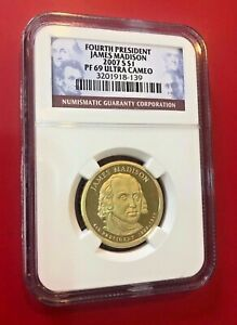 Fourth-President-James-Madison-2007-S-Dollar-NGC-Pf-69-Ultra-Camee