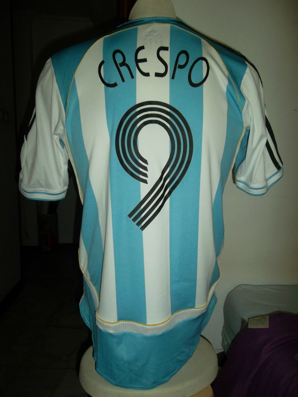 Jersey Camiseta Trikot vtg Crespo t-shirt adidas M Malliot plataina Original