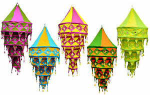 Wholesale-Lot-Of-Indian-Decorative-Lamp-shade-Cotton-Fabric-Collapsible-Lanterns