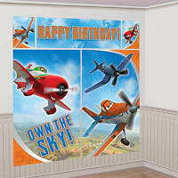 Disney Planes Wall Poster Decorating Kit (5pc) Birthday Party Supplies Plastic