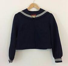 Authentic Japanese schoolgirl uniform top, imported from Japan, used, S (Q1173)