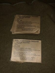 Trioxane Compressed Ration Heating Fuel Bars