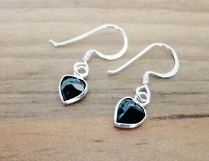925-Sterling-Silver-Heart-Shaped-CZ-Cubic-Zirconia-Hook-Earrings-4-6-amp-8mm