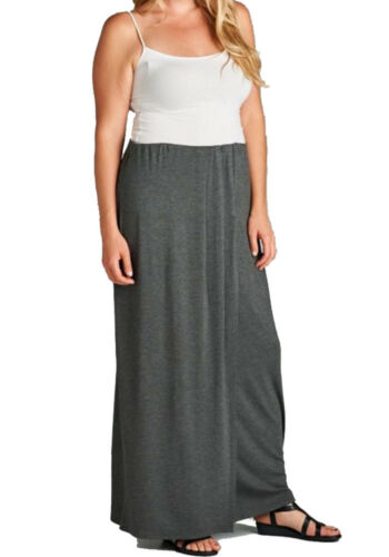 Sale Women/'s Plus Size Layered Maxi Front Slit Ankle Length Skirt