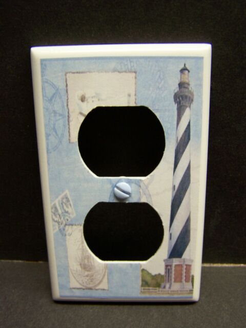 NAUTICAL LIGHTHOUSE IMAGE #25   HOME DECOR LIGHT SWITCH COVER PLATE OR OUTLET