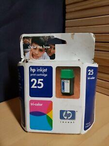 HP-Inkjet-25-Tri-Color-Printer-Ink-Cartridge-Sealed-Foil-and-box