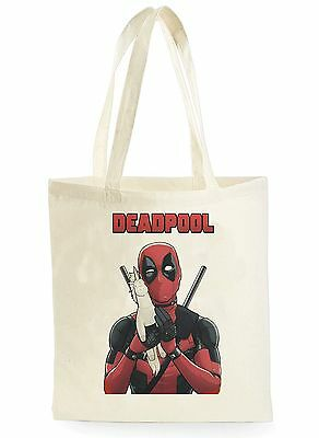 FUNNY DEADPOOL UNICORN COOL SHOPPING CANVAS TOTE BAG IDEAL GIFT PRESENT