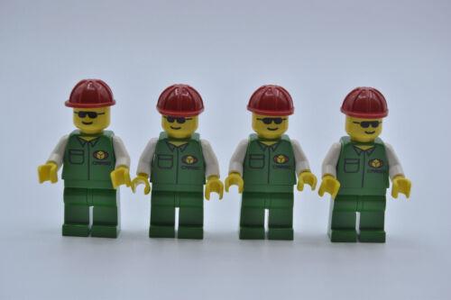 LEGO 4 X personnage minifigur Town Cargo mécaniciens car002 Set de 6330