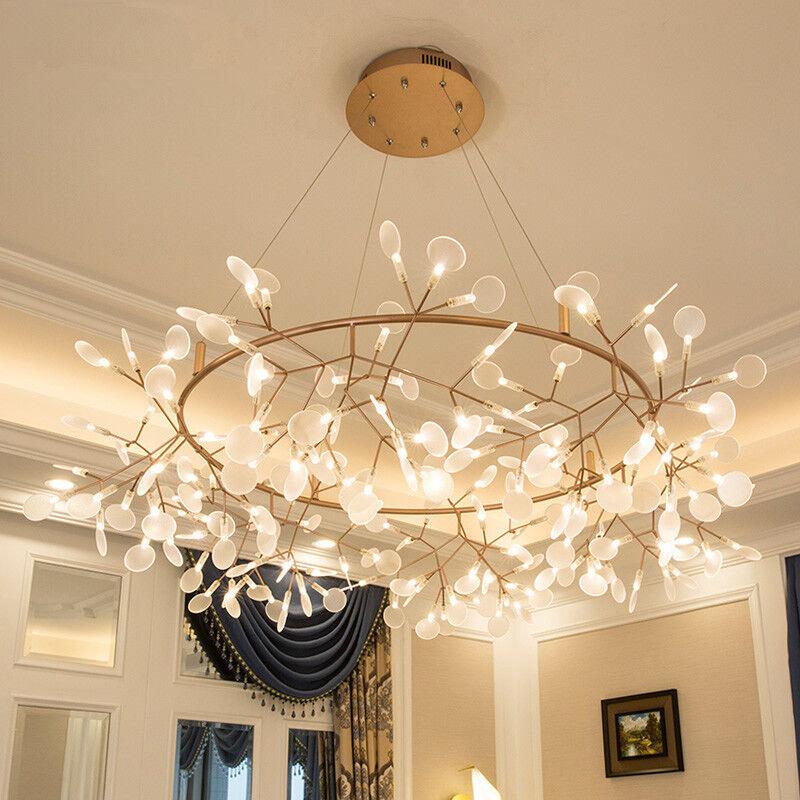 Araña De Acrílico Nuevo Glowworm 109 160 160 160 210 cm LED Lámpara de luz más alta Decoración De Habitación 98148a