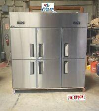 New 6 Door Commercial Reach In Freezer 72 X 29 X 75 110v 220v Cooler Al46
