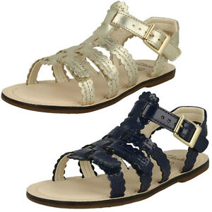 f8b171e8c5353 Image is loading Clarks-Girls-Loni-Moon-Smart-Leather-Strappy-Sandals