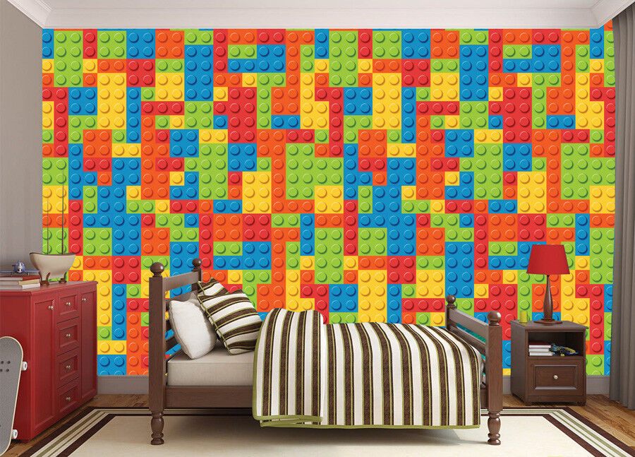 Lego Block Background Wallpaper Wall Mural Photo Children Kids