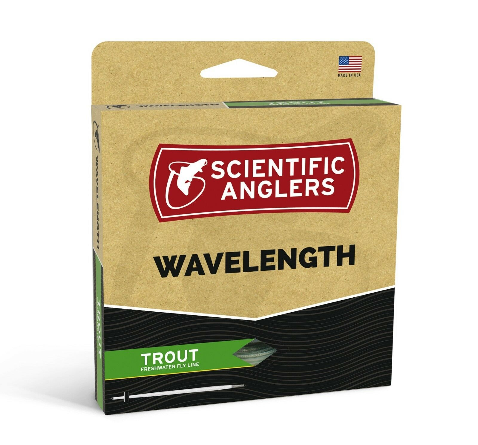 SA Wavelength Trout WF-3 Fly Line - Dk Willow Willow- Streams of Dreams