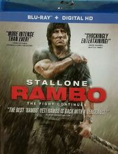 RAMBO BRAND NEW BLU RAY DISC MOVIE FILM ACTION WAR SOLDIER SYLVESTER STALLONE