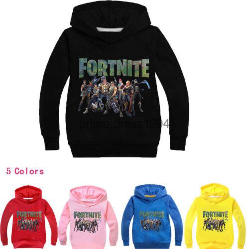 Neu HOT Kids Fornite Hoodie Boys Gamer Girls 2019 100-160cm Beft Gifts Childs UK
