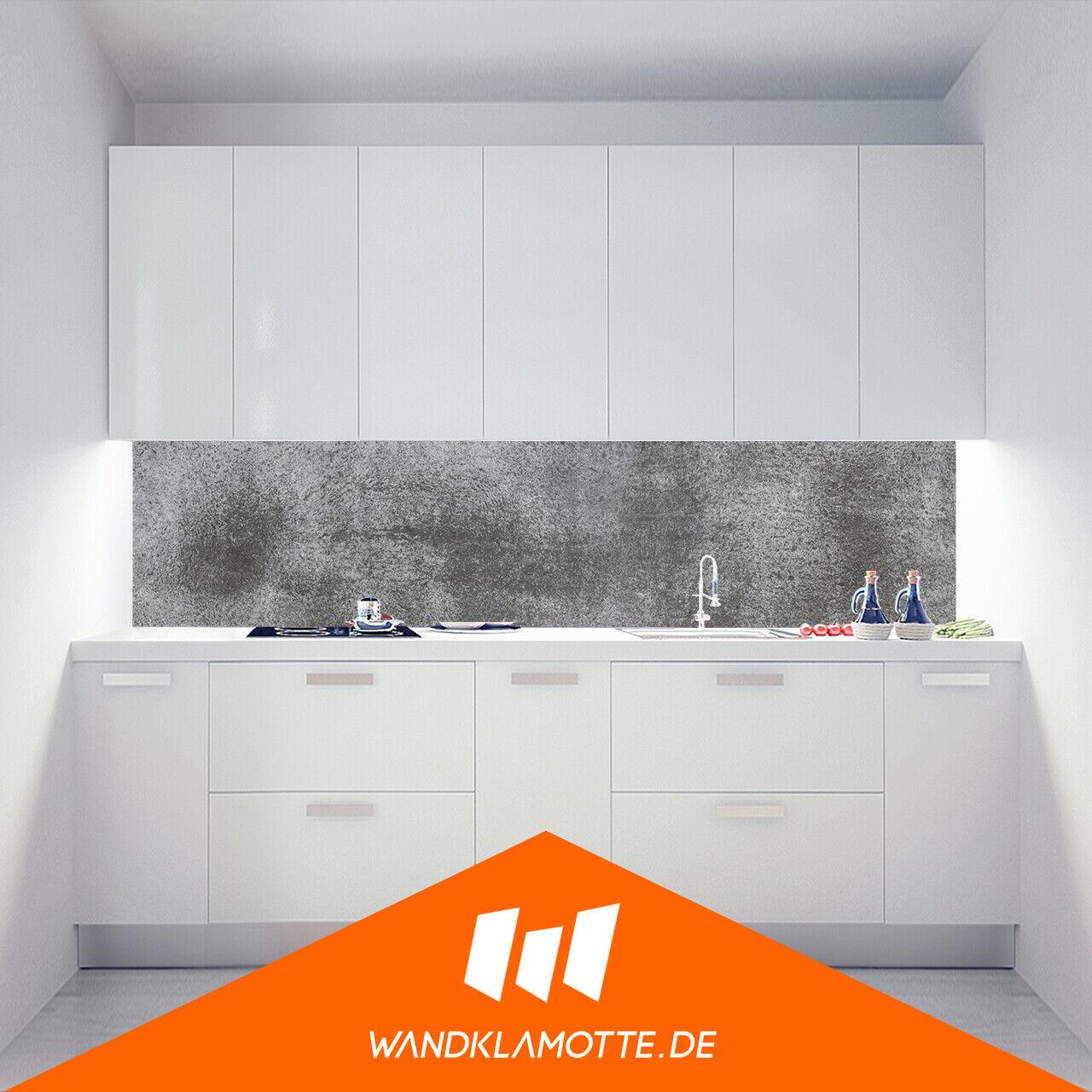 Kitchen Retro Wall Acrylic Glass Cooker Splash Guard sanded Concrete