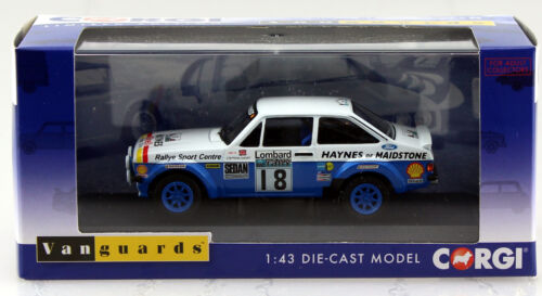 Ford Escort mk2 rs1800 #18 rally 1979 RHD 1:43 Vanguards coche modelo va12610