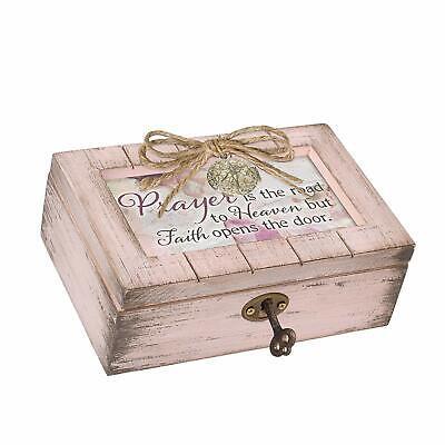 Cottage Garden Granddaughter Sunshine Pink Jewel Beaded Petite Music Box Plays Amazing Grace