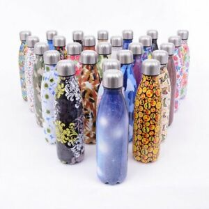 Stainless Steel Water Bottle Vacuum Insulated Gym Chilly Hot Cold Metal Flask UK