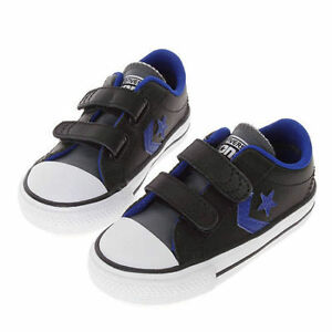 b1449420c4e3 Image is loading Converse-Leather-Infant-Girls-Kids-Boys-Ladies-Trainers-