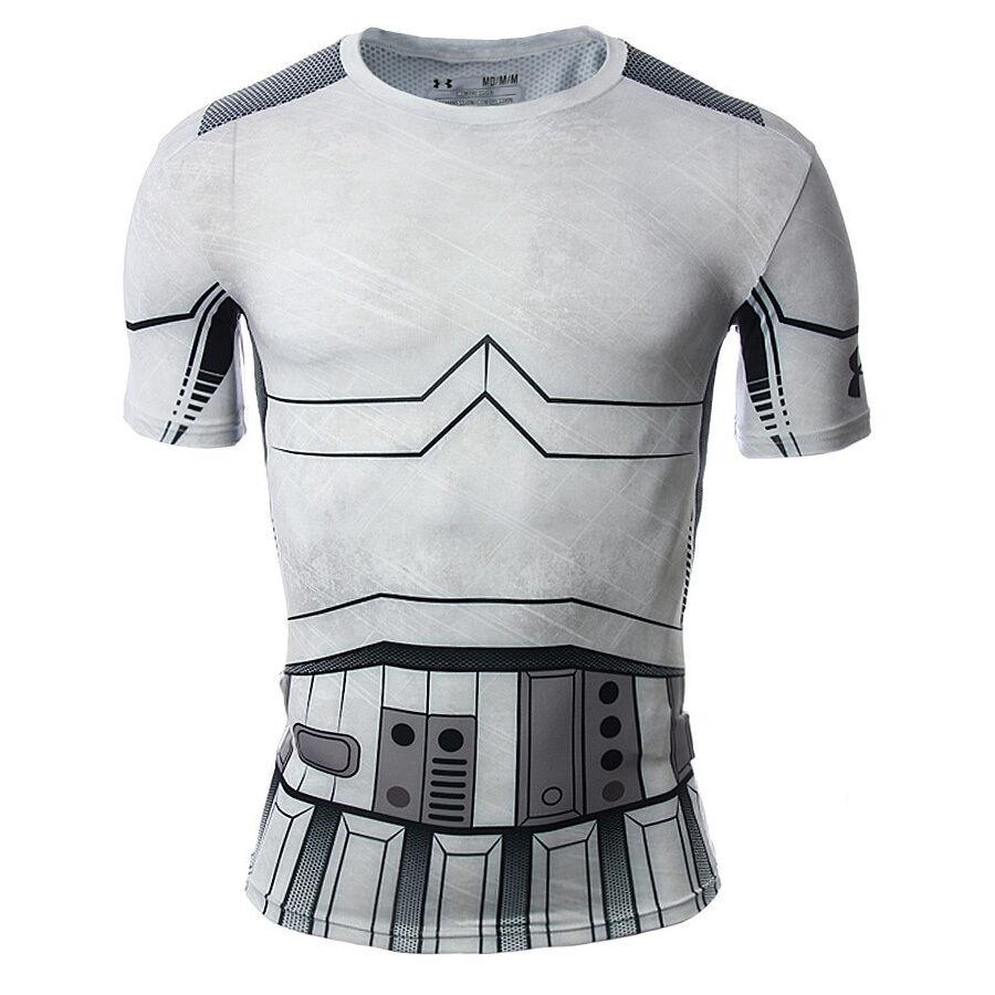 Under Armour Star Wars Trooper Compression Hemd Neu Herren 1273450-100 Grau