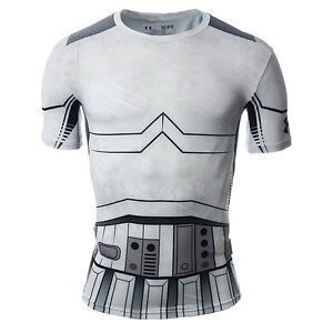 Under Armour Star Wars Trooper Compression Shirt NEW men 1273450-100 ... f4e1bcd98